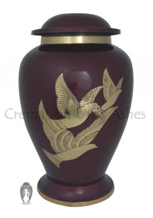 Flying Golden Dove Large Adult Cremation Urn