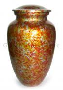 Garden Floral Aluminium Adult Ashes Urn, Memorial Cremation Urn