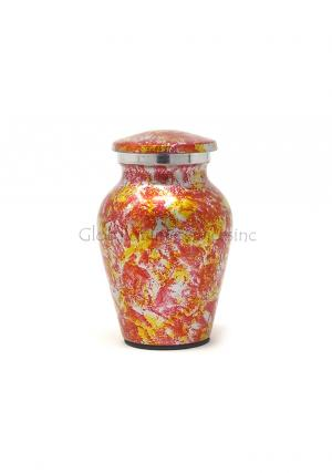 Garden Floral Aluminium Keepsake Ashes Urn, Memorial Cremation Urn