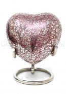 Glenwood Red Small Heart Keepsake Urn with Stand