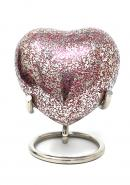 Glenwood Red Small Heart Keepsake Urn with Stand (Red)