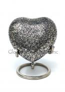 Cremation Urns Brass Funeral Urn Ashes, Glenwood Small Heart Keepsake Urn with Stand