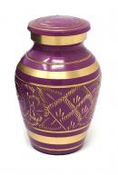 Gold Detailing Purple Keepsake Urn for Cremation Ashes