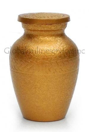 Gold Keepsake Chain Band Cremation Urn
