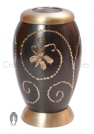 Golden Creeper Little Keepsake Memorial Urn for Human Ashes