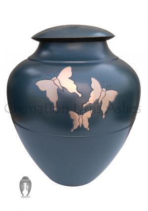 Golden Flying Butterflies Adult Cremation Funeral Urn