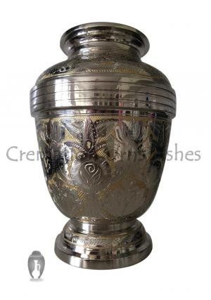 Golden Royal Look Big Adult Urn for Memorial Human Ashes