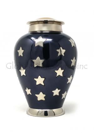 Sliver Star Big Container for Funeral Urns Ashes.
