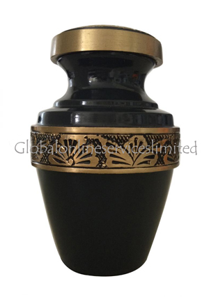 Grecian Rustic Flower Band Pewter Keepsake Cremation Urn for Human Ashes