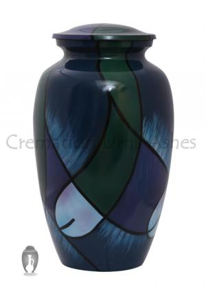 Hand Marked Quality Aluminium Adult Ashes Urn, Memorial Cremation Urn