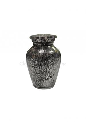 Harlow Black Flying Bird Cremation Keepsake Urn for Funeral Ashes, Small Brass Cremation Urn.