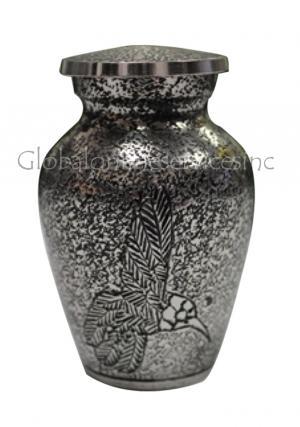 Harlow Black Flying Bird Cremation Keepsake Urn for Funeral Ashes