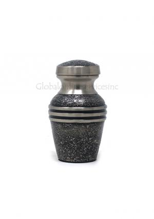 Harlow Black Cremation Keepsake Urn for Funeral Ashes, Small Brass
