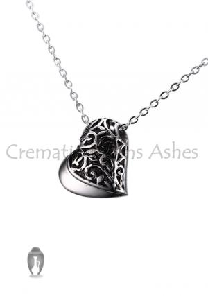Heart Shaped Cremation Keepsake Jewellery Pendant, Necklace
