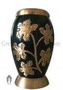 Ivy Leaves Green Color Small Keepsake Urn for Human Cremation Ashes