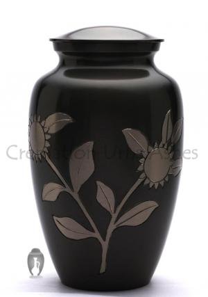 Large Adult Memorial Urn Ashes - Sunflower Cremation Urn