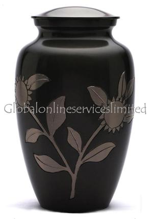 Large Adult Memorial Urn Ashes - Sunflower Cremation Urn