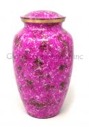 Large Garden Flowers Pink Brass Cremation Urn for Adult Cremation Ashes