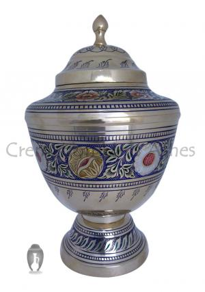 Large Gorgeous Floral Bands Adult Urn For Human Ashes