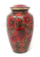 Large Red Flower Petal Urn for Cremation Ashes