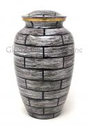 Large Vintage Adult Cremation Brass Urn for Human Ashes