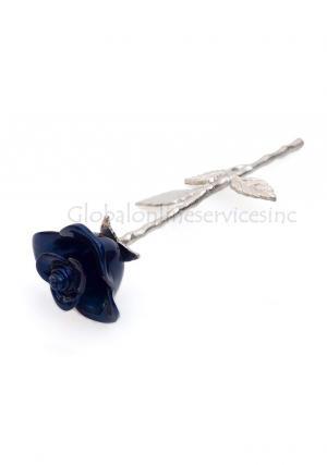 Long Stem Blue Rose Urn for Keepsake Memorial Ashes