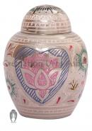 Lotus Heart Small Cremation Keepsake Urn Human Ashes