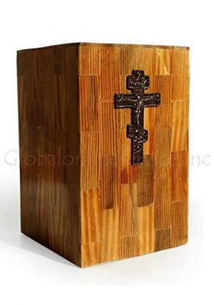 MDF Made Cross Christ Human Ashes For Cremation Urns