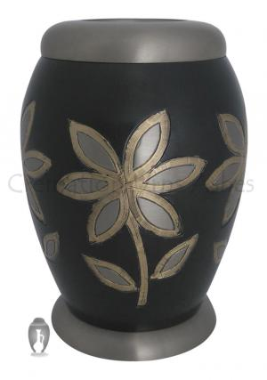 Majestic Lilies Brass Tealight Funeral Brass Urn Ashes