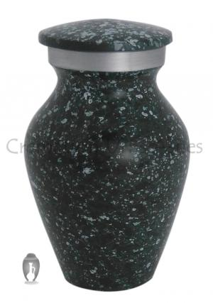 Marble Green Aluminium Keepsake Funeral Cremation Urn Ashes