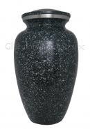 Marble Black Aluminium Large Memorial Adult Urn For Ashes