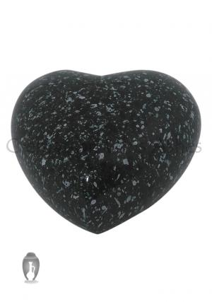 Marble Heart Keepsake Aluminium Urn for Cremated Ashes