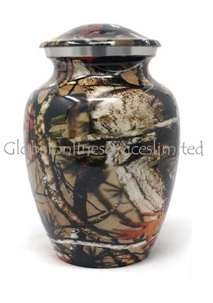 Medium Aluminium Camouflage Urn for Cremation Ashes (Medium)