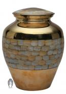 Medium Size Elite Mother of Pearl Cremation Urn for Memorials