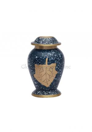 Memorial Autumn Leaves Patina Mini Leaf Keepsake Urn For Funeral Ashes