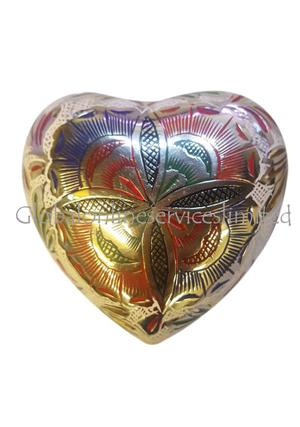 Memorial Farnham Flower Silver Mini Heart Keepsake Urn For Human Ashes