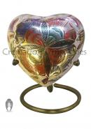 Memorial Farnham Flower Silver Mini Heart Keepsake Urn For Human Ashes