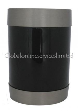 Midnight With Silver Tealight Cremation Brass Urn