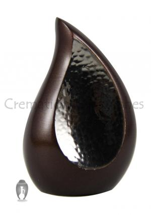 Mini Bronze Teardrop Cremation Ashes Keepsake Small Urn
