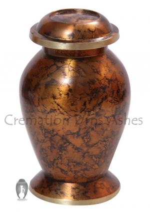 Mini Clay Brown Keepsake Funeral Urn for Human Ashes