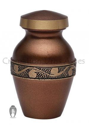 Mini Derby Chocolate Mini Keepsake Human Cremation Urn for Ashes