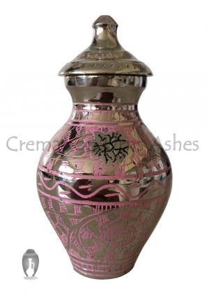 Mini Engraved Pink Colour Butterfly Cremation Urn For Cremated Ashes