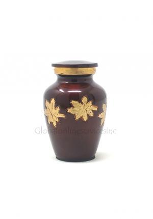 Mini Keepsake Falling Leaves Cremation Urn