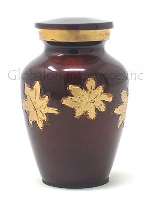 Mini Keepsake Falling Leaves Urn for Cremation Ashes