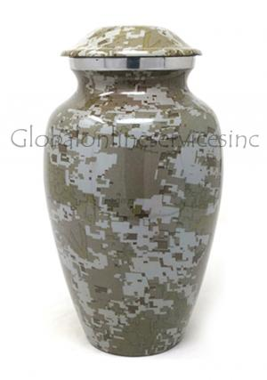 Modern French Aluminium Keepsake Cremation Urn