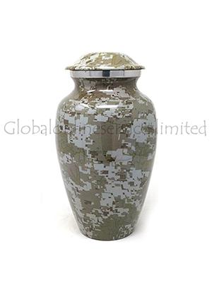 Modern French Aluminium Keepsake Cremation Urn (Small)