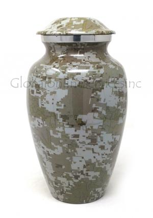 Modern French Aluminium Large Cremation Urn