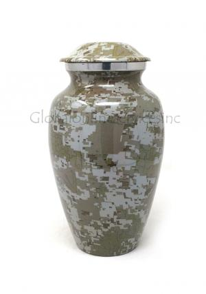 Modern French Aluminium Medium Cremation Urn