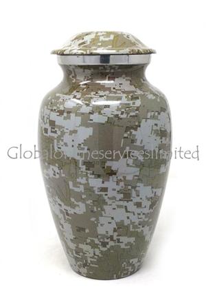 Modern French Aluminium Medium Cremation Urn (Medium)