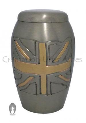 Monarch British Flag Graphite Keepsake Urn